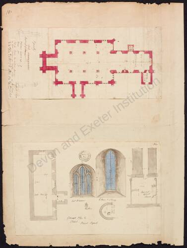 Ground plan of Broad Nymet Chapel and Pyworthy Church