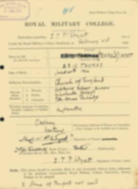 RMC Form 18A Personal Detail Sheets Feb & Sept 1922 Intake - page 321