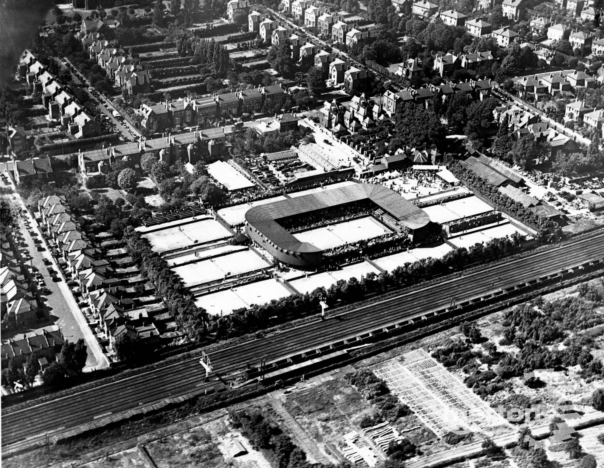Aerial View Of The All England Lawn Tennis Club Worple