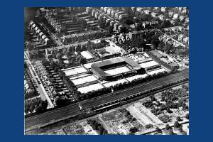 Aerial view of the All England Lawn Tennis Club, Worple Road, Wimbledon