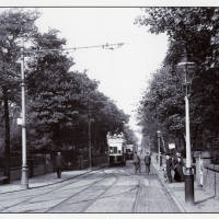 Electric Trams in Norwood Road Southport