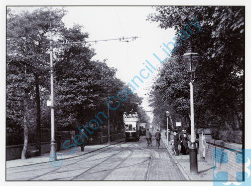 Electric Trams in Norwood Road, Southport, 1900s
