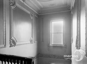 Main staircase, first floor, Morden Hall, Morden