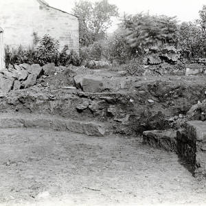 St Giles Church, foundations of Templars Chapel, 1927