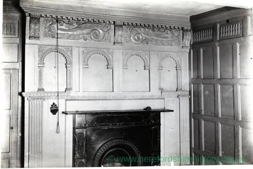 Wooden Paneling over a Mantel, 136 St Owen Street, Hereford, 1901