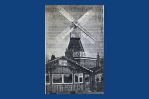 Newspaper photo of the windmill, Wimbledon Common