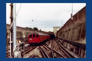 Morden Underground tube train