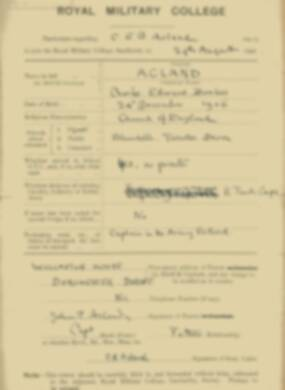 RMC Form 18A Personal Detail Sheets Feb & Aug 1924 Intake - page 2