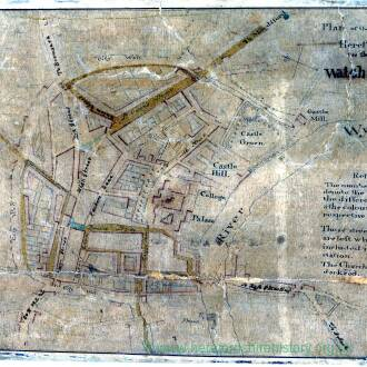 Plan of the city of Hereford for the watch and ward (undated)