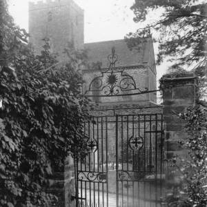 Abbey Dore Rectory, Herefordshire, iron gates