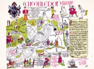 Illustrated plan of Wimbledon