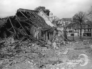 Bomb damage to the Methodist Church, Upper Green, Mitcham