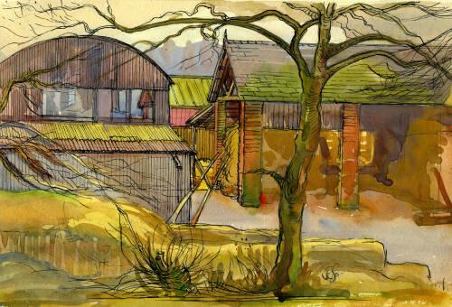 Booths Lane Farm by Dorothea Rowlinson