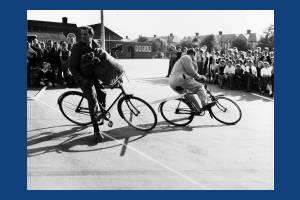 Road safety demonstration at Morden Farm School
