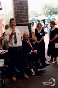 Mayor of Merton, Slim Flegg, at Merton Abbey Mills