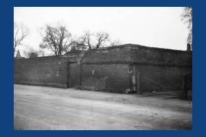 Church House: Historic perimeter wall