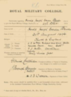 RMC Form 18A Personal Detail Sheets Jan 1915 Intake - page 368