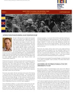 Burma Star Memorial Fund Newsletter Issue 3