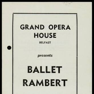 Grand Opera House, Belfast, November 1964