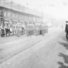Westoe Road, soldiers marching