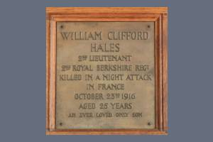 Memorial Plaque - Hales