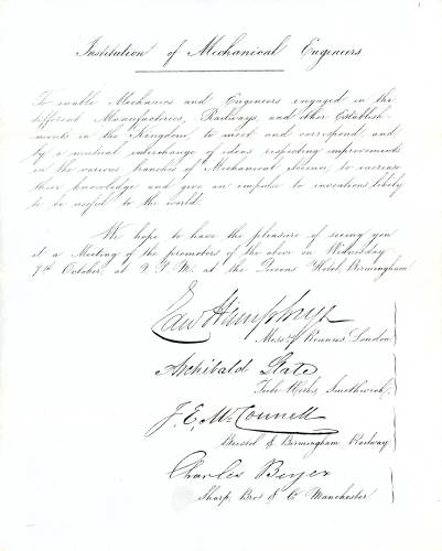 Foundation letter
