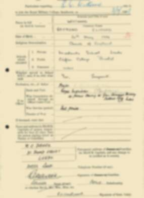 RMC Form 18A Personal Detail Sheets Feb & Sept 1933 Intake - page 147
