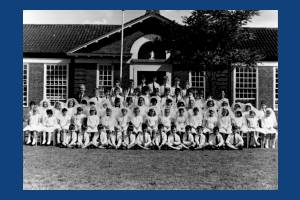 Schools Sacred Heart students and staff portrait