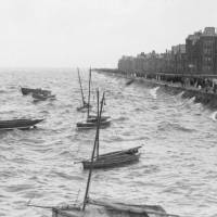 Southport Promenade, high tide