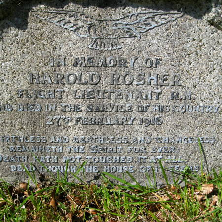 Gravestone of Harold Rosher