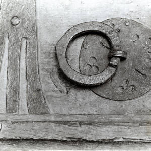Clehonger, church door ring, 1928
