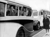 Morden Children Leaving for a Trip to a Holiday Camp