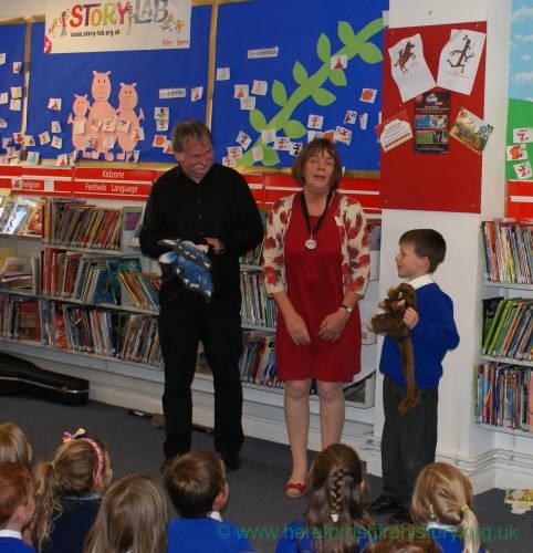 Jula Donaldson, Children's Laureate visits Leominster Library, Thursday 27 September 2012