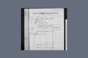 Record of Officers' Services  - Wilfrid Davis