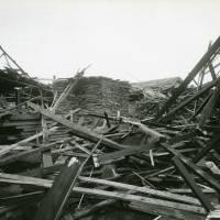 Cox's Timber Yard, bomb damage, Blitz