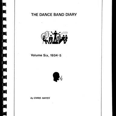 Dance Band Diaries Volume 6 1934-1935