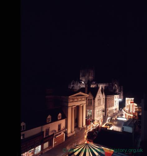 The May Fair at night - Shire Hall Hereford.