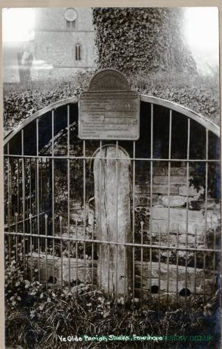 Fownhope, Ye Olde Parish Stocks, 1901