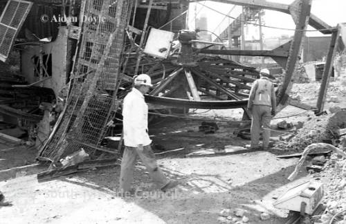 Demolition of South Pit at Easington Colliery
