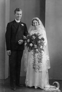 Rev. C. Powell and His Bride, October 1939