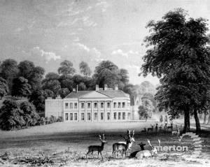 Charborough Park Mansion, Dorset, seat of John SWS Earle Drax, MP.