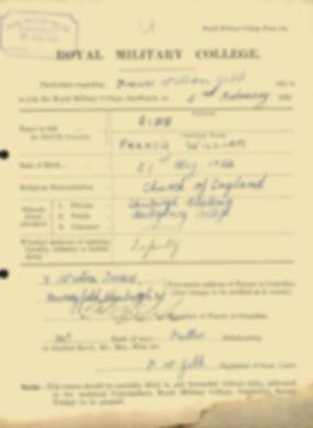RMC Form 18A Personal Detail Sheets Feb & Sept 1922 Intake - page 48