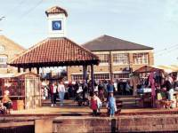 Merton Abbey Mills: Bandstand and Shopping Complex