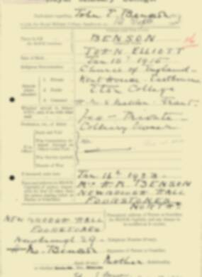 RMC Form 18A Personal Detail Sheets Feb & Sept 1933 Intake - page 160