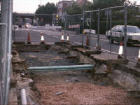 Burlington Road, West Barnes: Laying new water mains