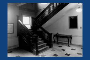 Staircase from the ground floor, Morden Hall, Morden