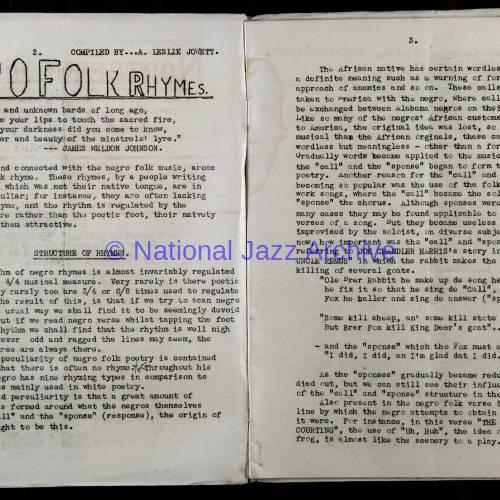 Northern Society For Jazz Study Vol.1 No.3 0002