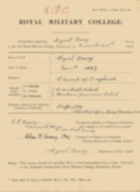 RMC Form 18A Personal Detail Sheets Jan 1915 Intake - page 8