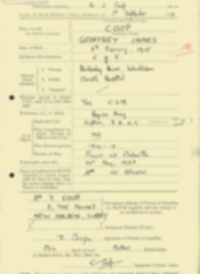 RMC Form 18A Personal Detail Sheets Feb & Sept 1933 Intake - page 180