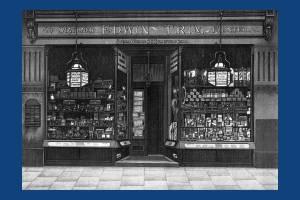 Edwin Trim's Stationery shop, 20 Wimbledon Hill Road.